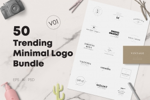 50 Trending Minimal Logo Collection Version 1