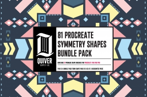 81 Shapes Brush Collection For Procreate