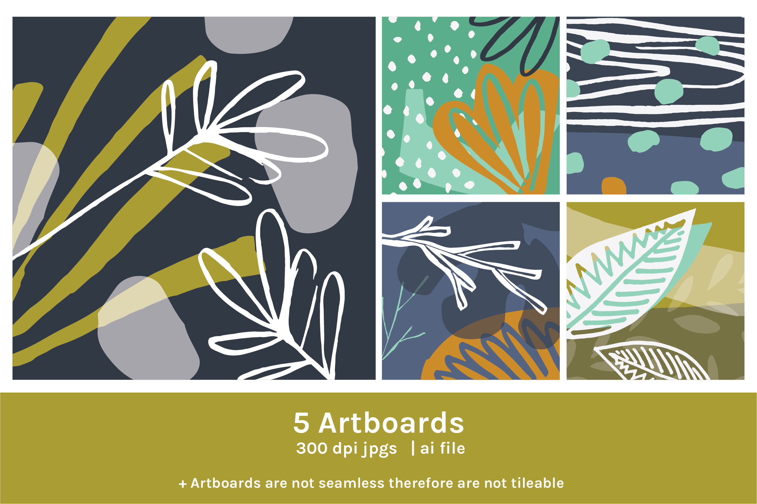 Abstract Nature Patterns And Art Boards