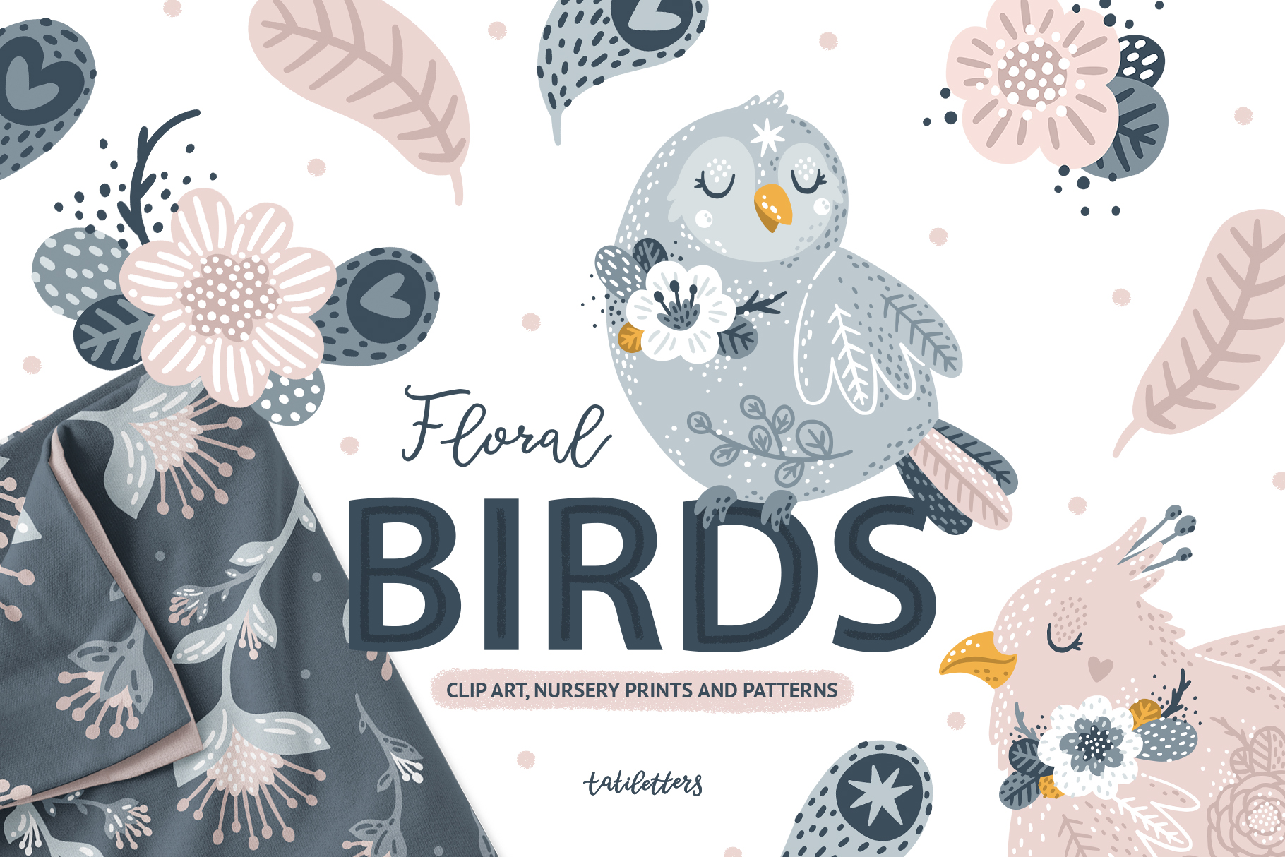 Birds and Flowers Prints & Patterns