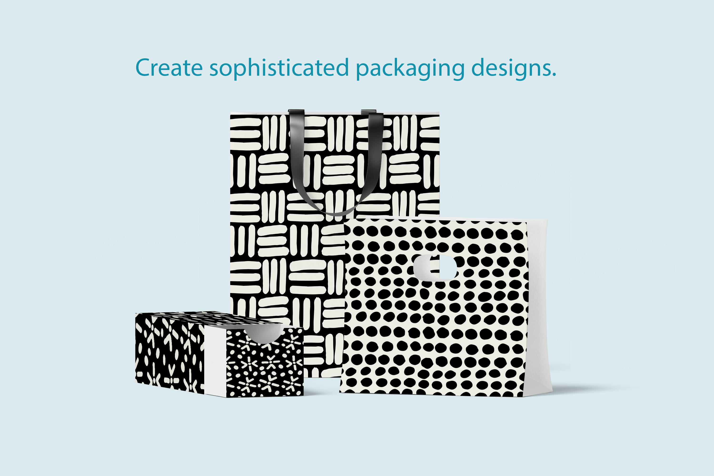 Dots and Dashes Seamless Patterns