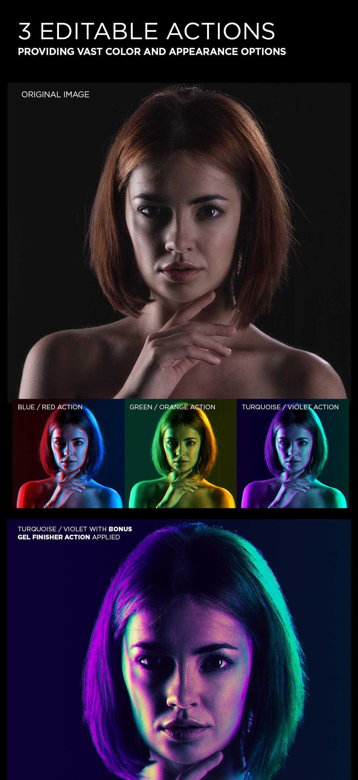 Dual Lighting Gel Photoshop Action