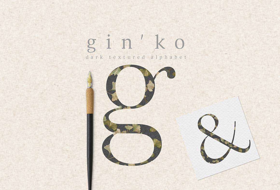 GIN'KO Textured Watercolor Graphics