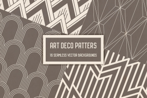 Geometric Art Deco Patterns Collection