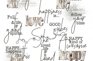 Happiness WordART Mix No. 1