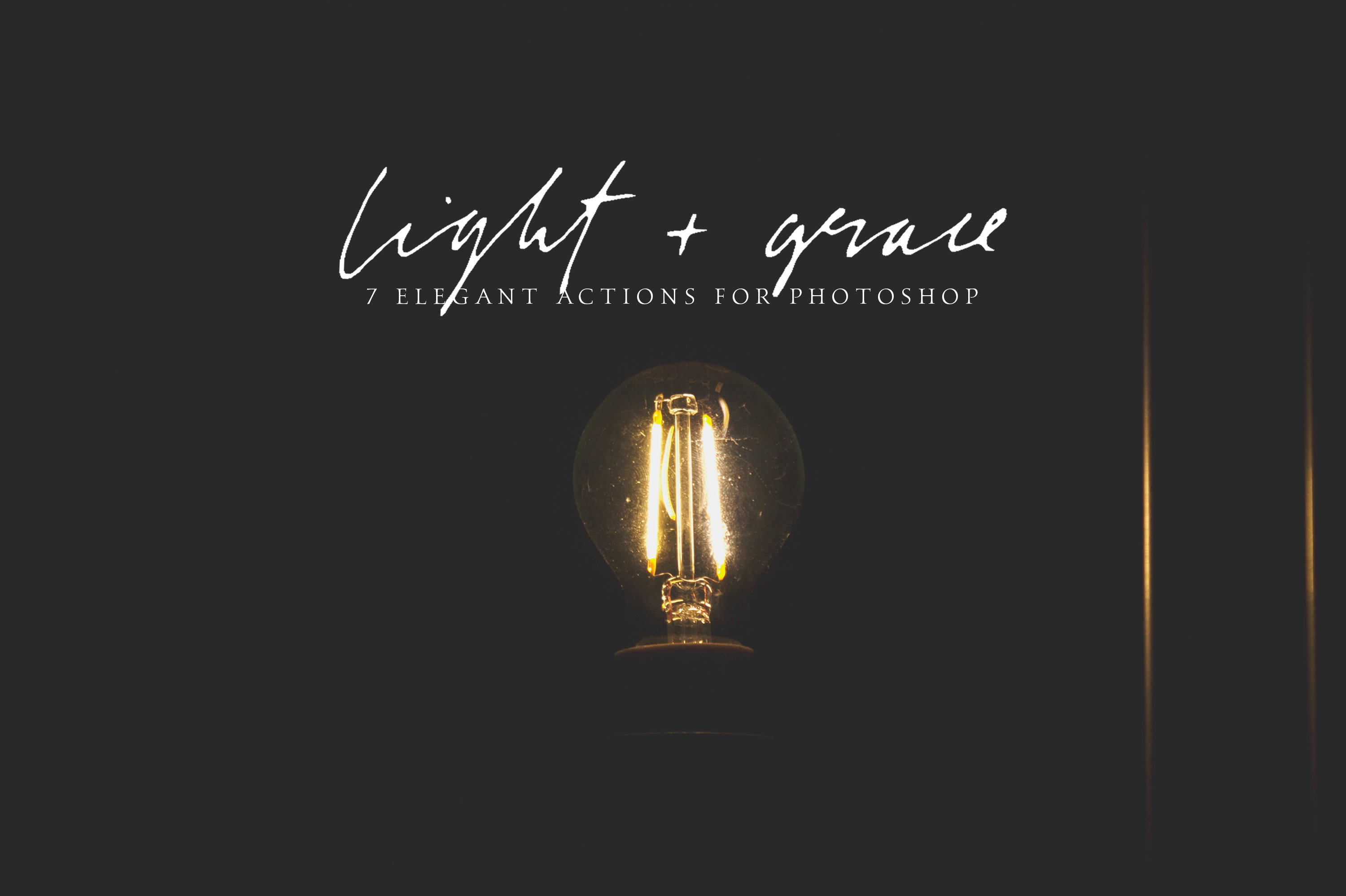 Light And Grace Photoshop Actions