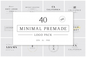 Minimal Premade Logos Version 2