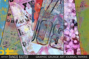 Graphic Grunge Art Journal Papers
