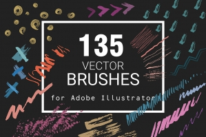 135 Vector Brushes for Illustrator