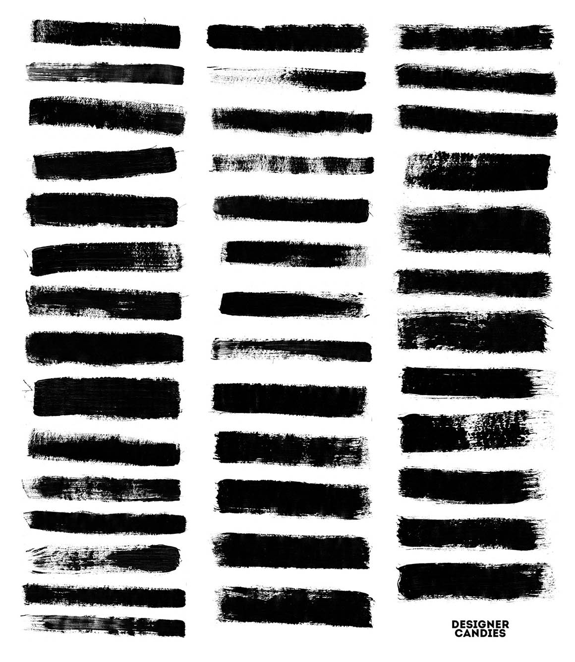 99 Thick Industrial Paint Stroke Brushes