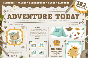 Adventure Today Graphic Set