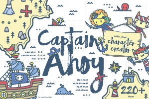 Captain Ahoy - Cute Pirate Graphics