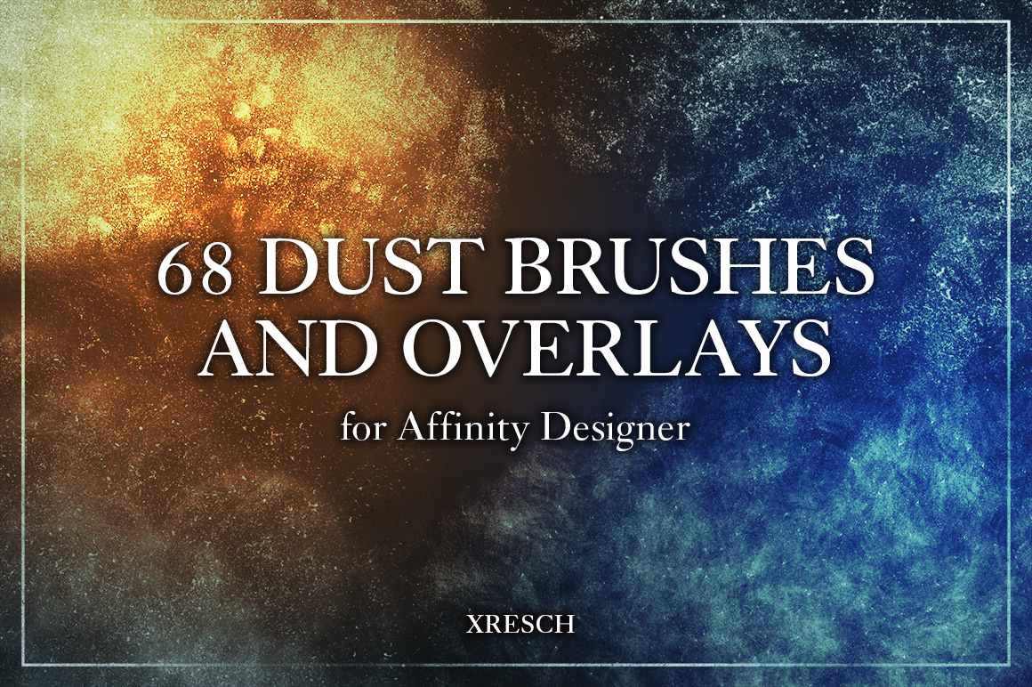 68 Dust Brushes & Overlays for Affinity