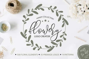 Flowery Logo Creator - Botanical Elements and Logos