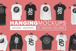 Hanging Apparel Mockups Collection