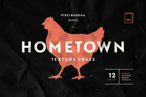 Hometown Texture Press Effects