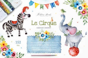 Le Cirque - Watercolor Collection