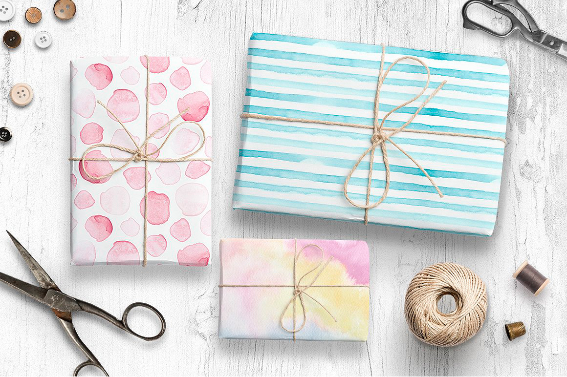 Light And Bright Watercolor Textures