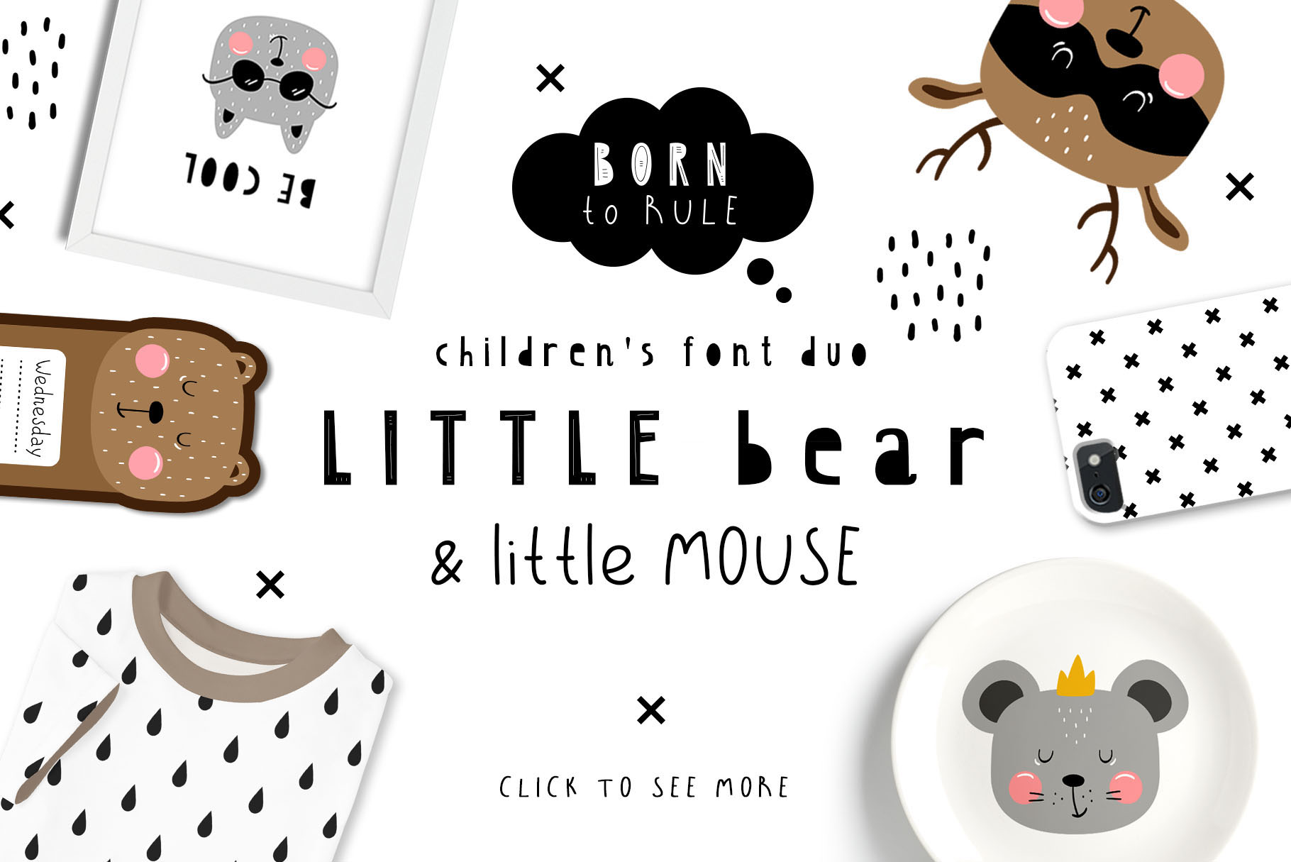 Little Bear And Little Mouse Font Duo