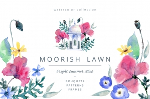 Moorish Lawn Graphic Set