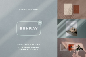 Sunray 2 - Stationery Shadow Mockups
