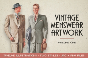 Vintage Menswear Artwork Vol. 1