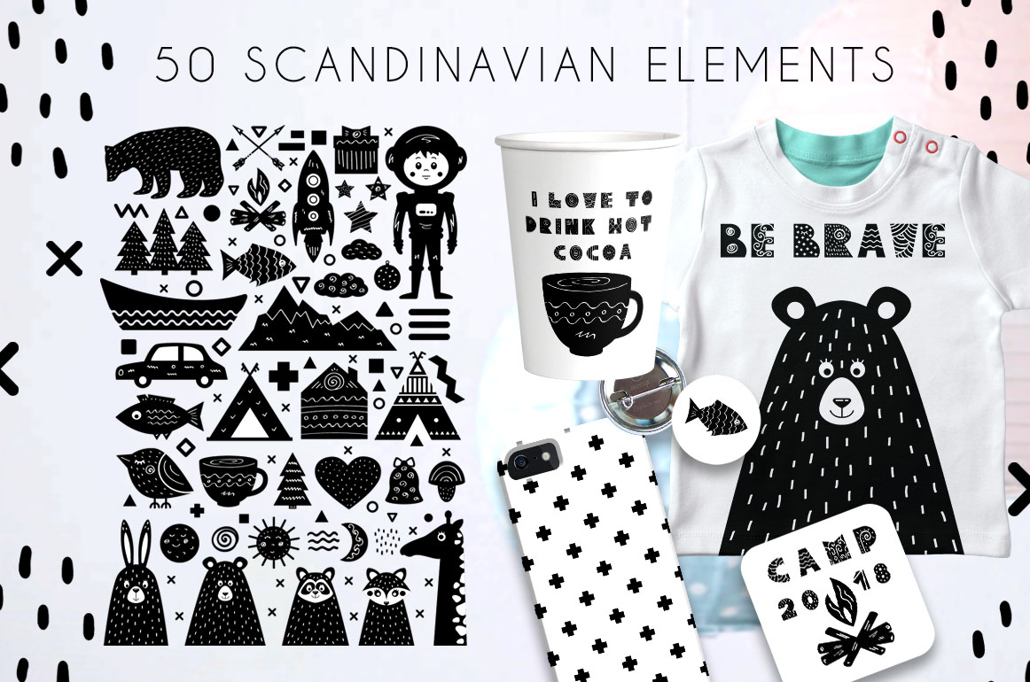 Yeti - Scandinavian Font And Elements