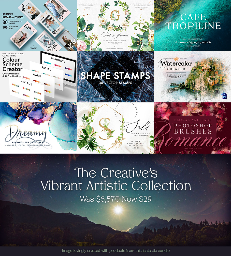 The Creative's Vibrant Artistic Collection