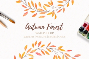 Autumn Forest Elements