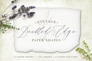 Deckled Edge Paper Shapes