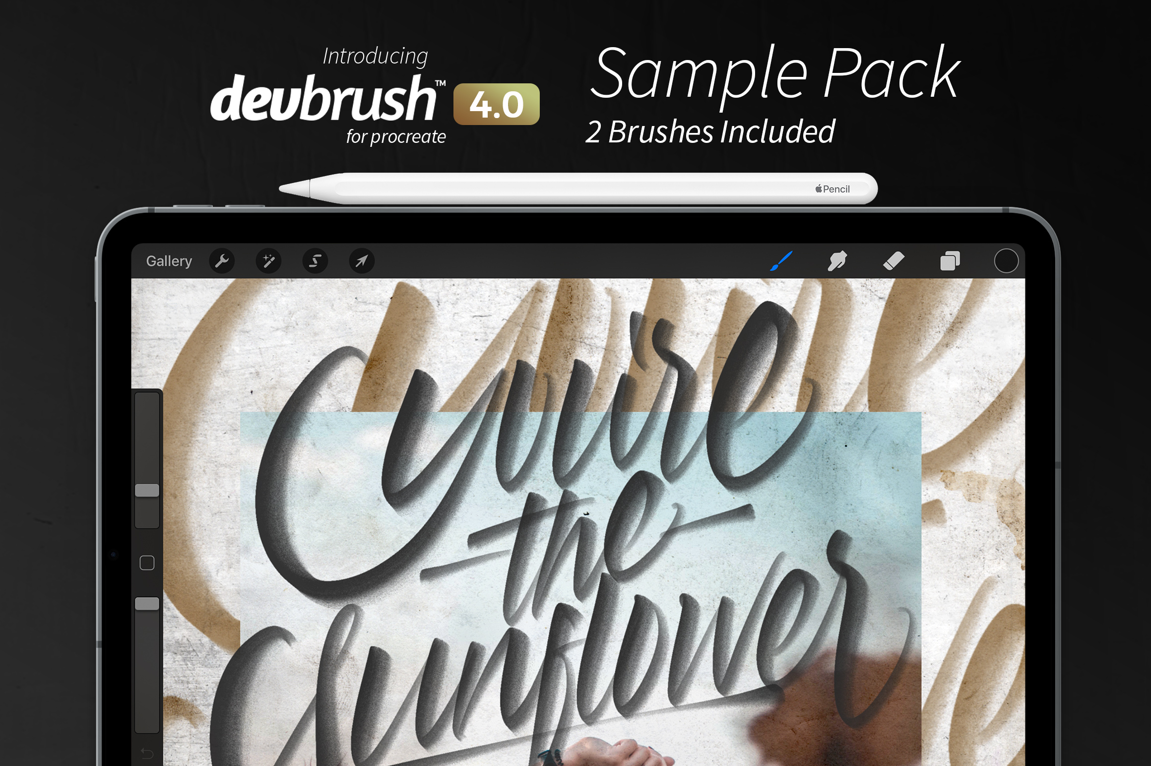 The Lettering Daily Freebie Brush Bundle