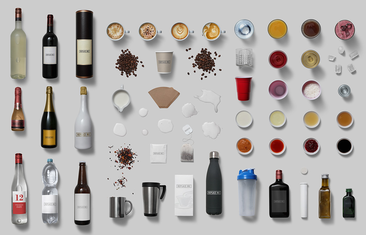 Drinking - Isolated Food Items