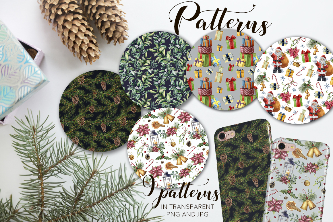 Elegant Christmas Watercolor Collection