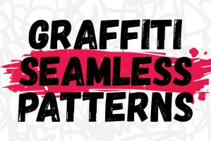 Graffiti Seamless Patterns Set Black & White