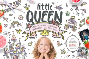 Little Queen - Cute Princess Graphics