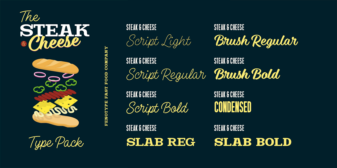Steak And Cheese Font Collection