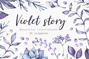 Violet Floral Collection