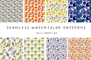 Watercolor Flower Patterns