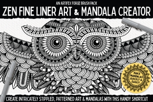 Zen Fine Liner Art and Mandala Creator