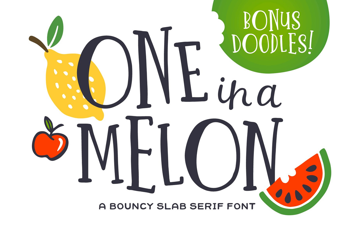 One in a Melon Font
