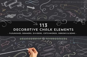 113 Decorative Chalk Elements