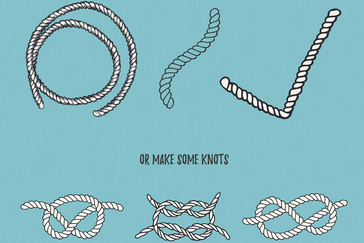 22 Vector Rope Brushes