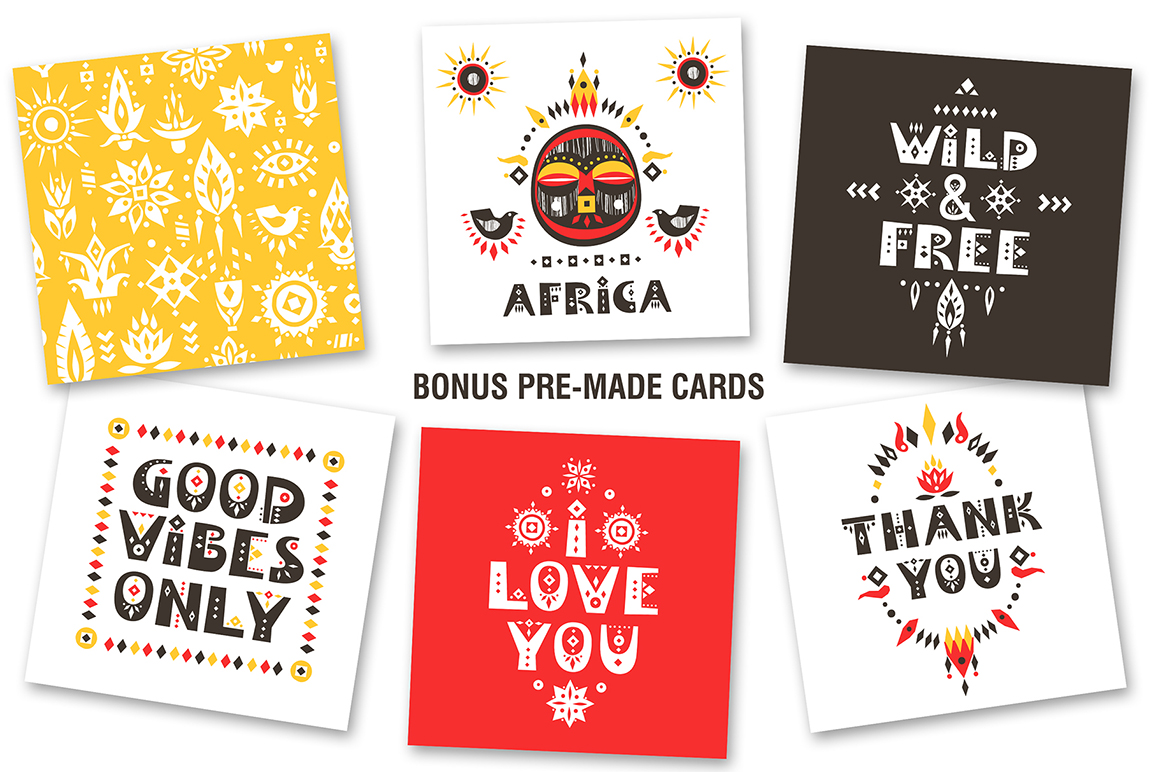 Africa - Tribal-Art Graphic Collection