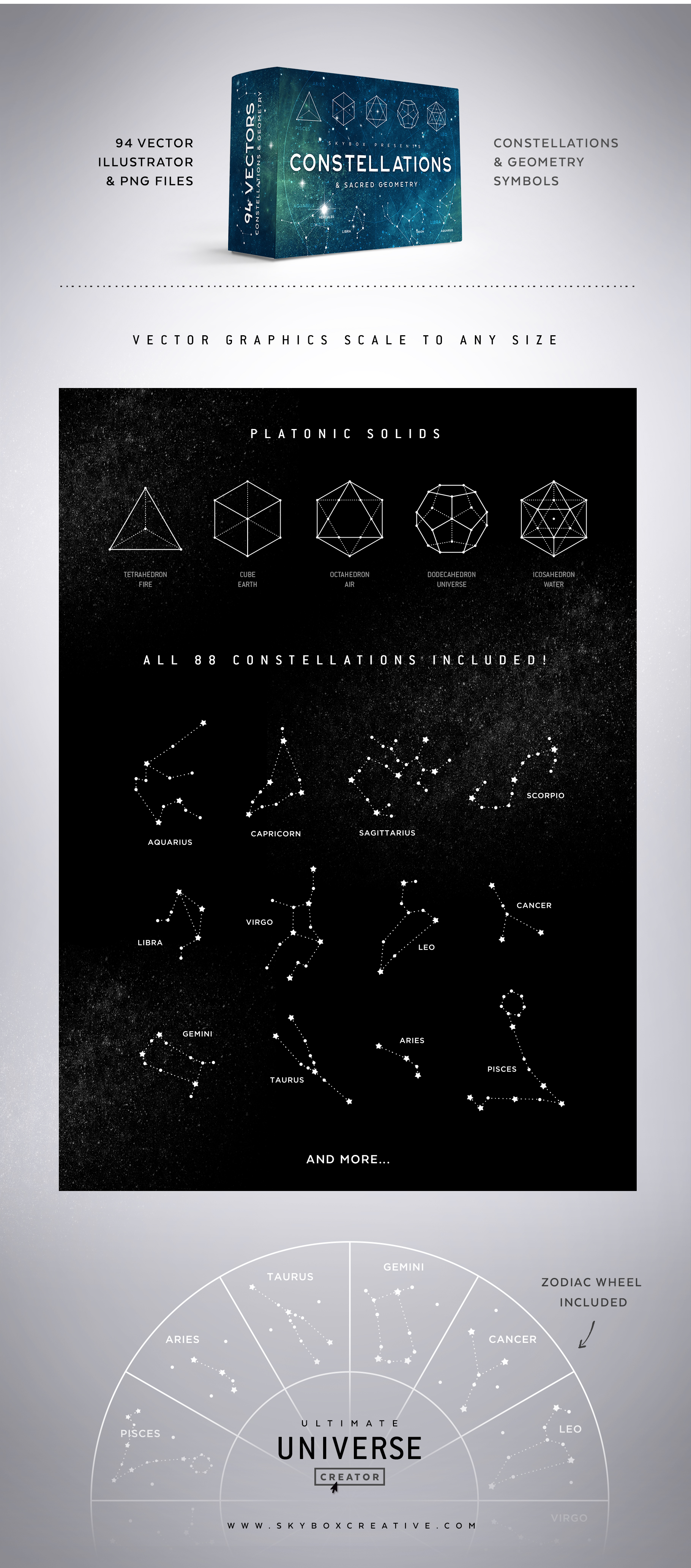 Constellations & Saced Geometry