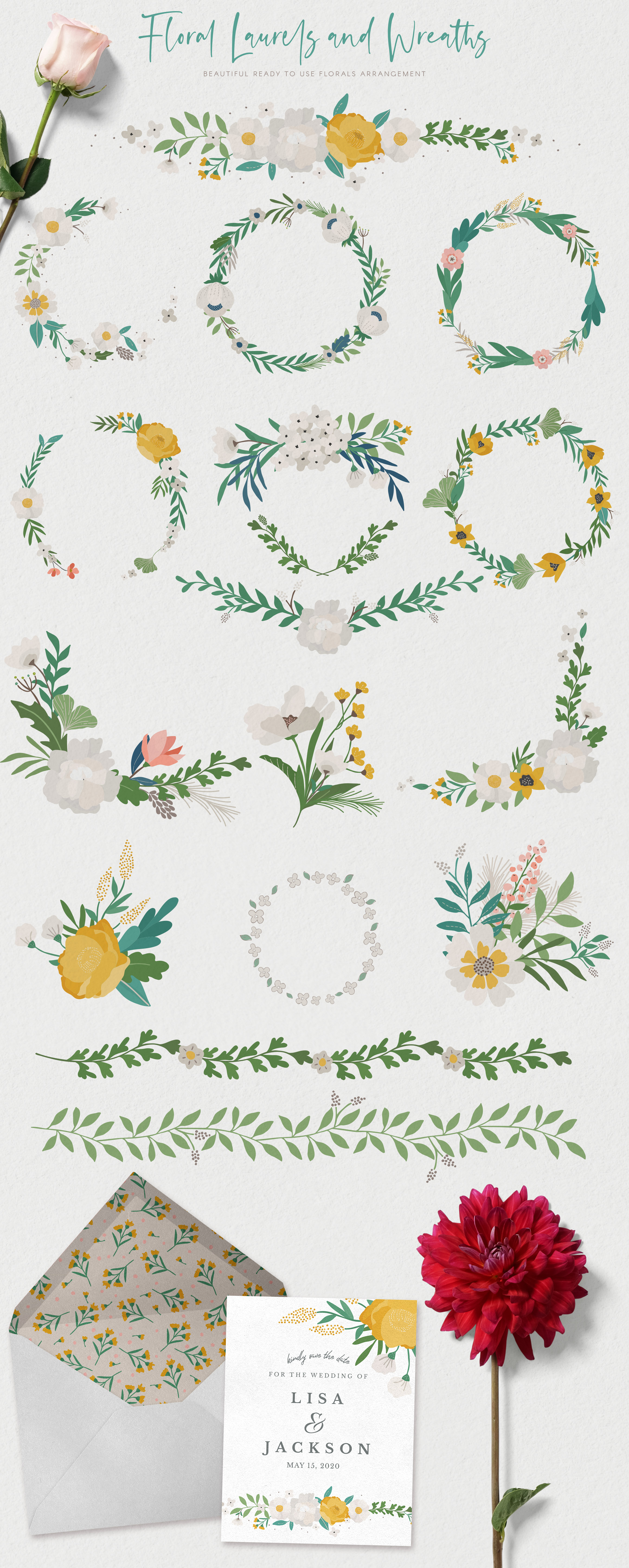 Floral Illustrations and Patterns