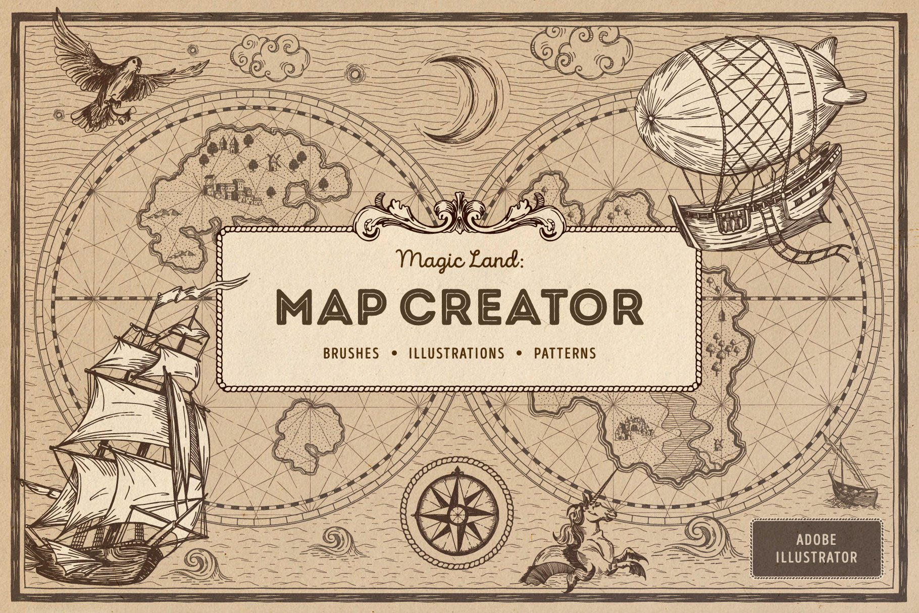 Magic Lands: Vintage Map Creator