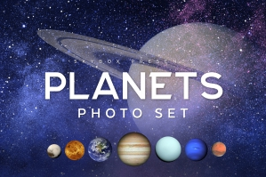 Milky Way Planets Photo Set