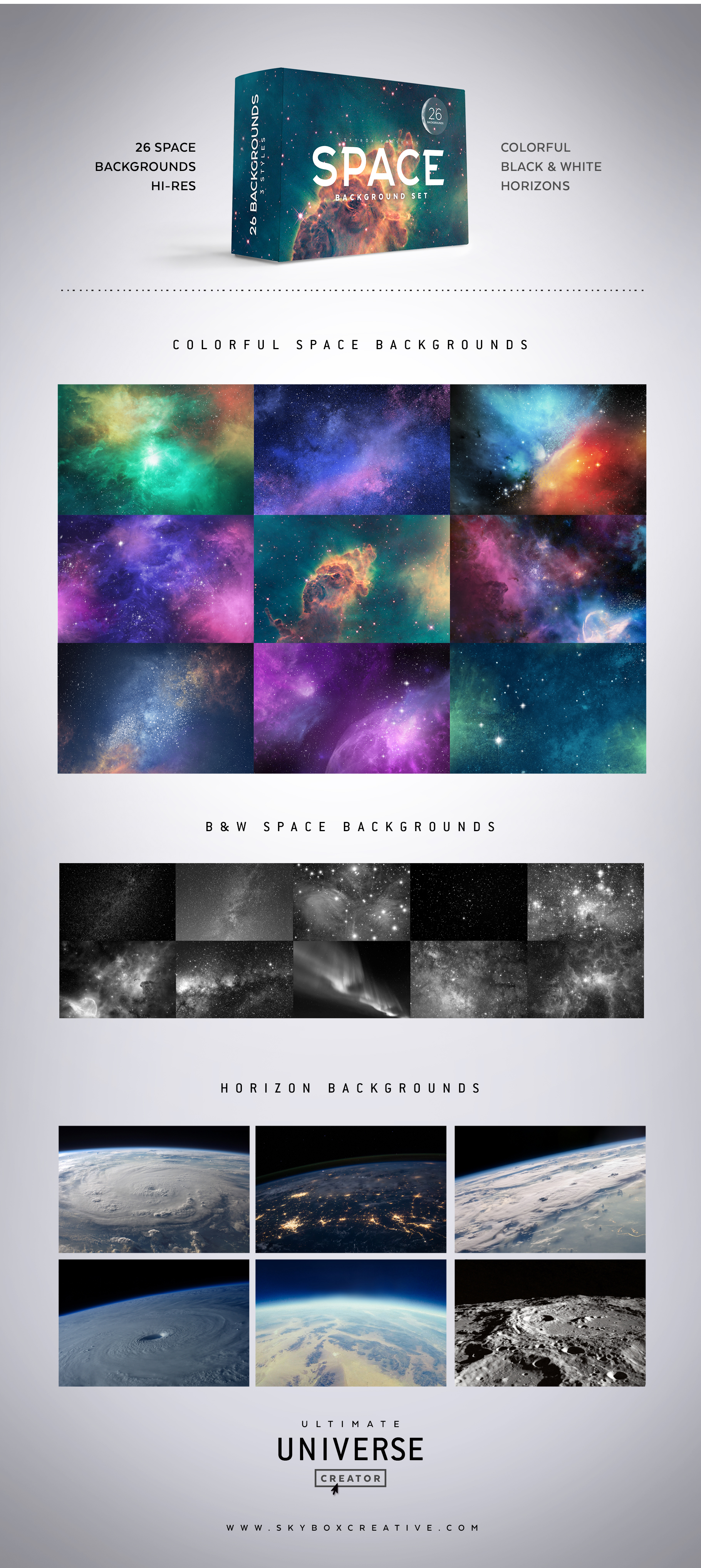 Space Background Set