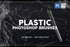 198 Plastic Photoshop Brushes