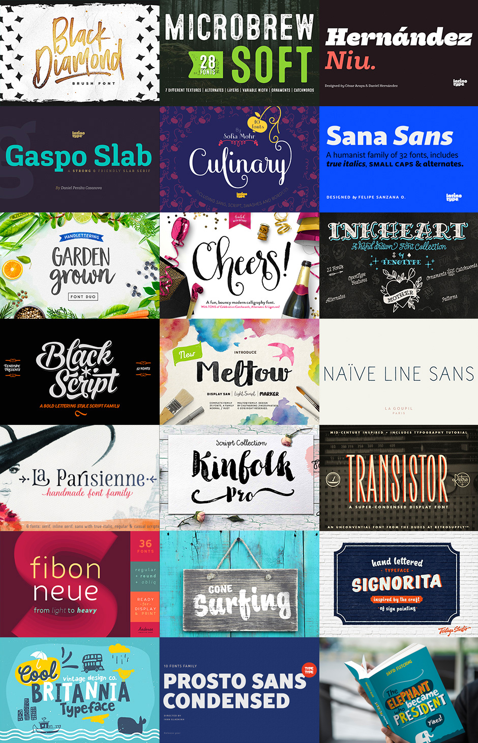 Best-Selling Font Families